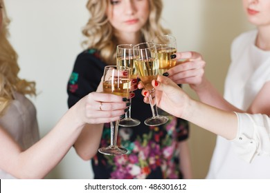 Girls congratulating friend on his birthday.
