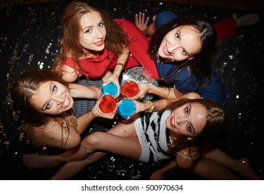 Girls with drinks