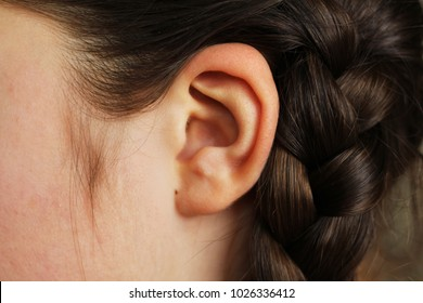 Girls ear closeup