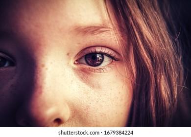 The girl's face - a close-up shot