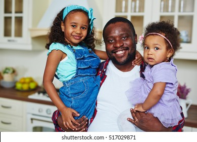 Girls with father