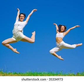 Girls fly