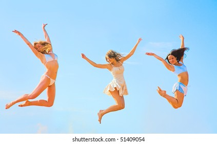 Girls funny exercise