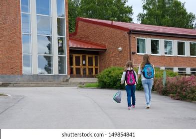 Girls go to school