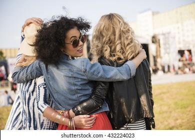 Girls going for the festival