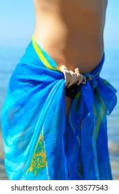 Girl's hips in pareo