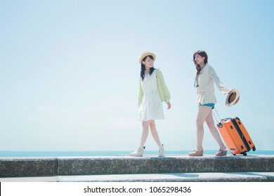 Girls of japanese to travel