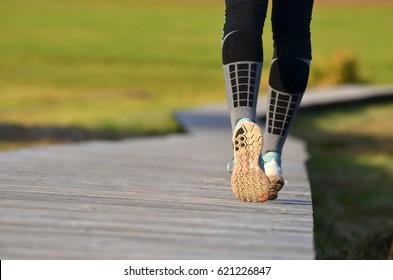 girl's legs running
