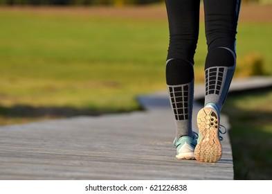 girl's legs starting to run