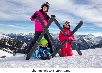 Girls on the snow