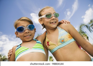 Girls at the Pool