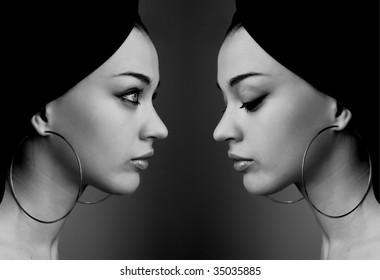 Girls reflection
