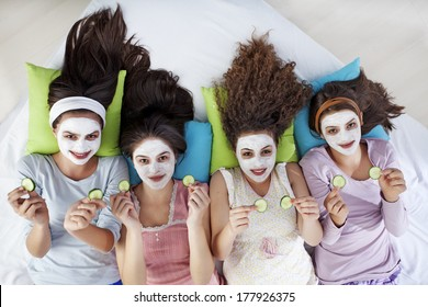 Girls at a Sleepover