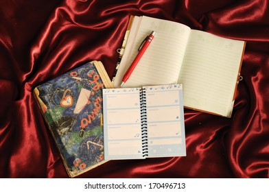 Girly notebook, planner and a diary