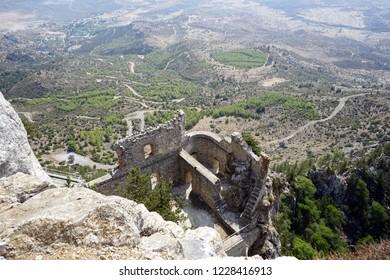 GIRNE, NORTH CYPRUS - CIRCA OCTOBER Ruins of Buffavento castle