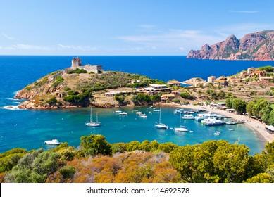 Girolata bay in natural reserve of Scandola, Corsica