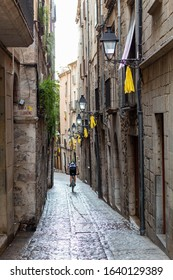 Girona back streets of medieval town