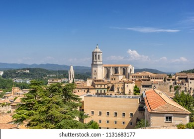 Girona Cathedral in Catalonia Spain
