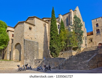 Girona, Spain - April 20, 2018: Convent de Sant Domenec de Girona in Girona, Catalonia, Spain. Now this is a part of University of Girona