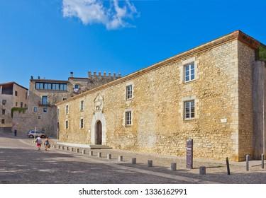 Girona, Spain – April 20, 2018: Building of University of Girona, Catalonia, Spain