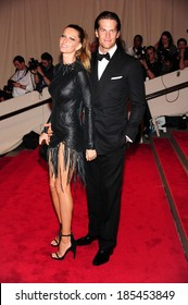 Gisele Bundchen, in Alexander Wang, Tom Brady, in Tom Ford, at American Woman: Fashioning National Identity Co-Hosted by GAP, Costume Institute, Metropolitan Museum of Art, NY May 3, 2010