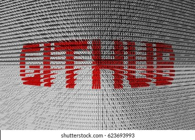 GITHUB in the form of binary code, 3D illustration