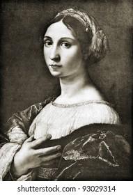 "Giulio Romano (Giulio Pippi, dit) (1499 - 1546)  Reproduction from illustrated Encyclopedia ""Treasures of art"", Partnership «Prosvesheniye», St. Petersburg , Russia , 1906"