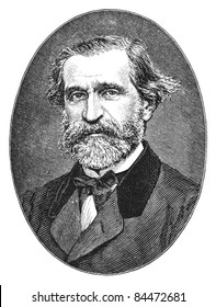 Giuseppe Verdi (1813-1901) was an Italian Romantic composer, mainly of opera. Engraving from Harper's Monthly Magazine December 1876.