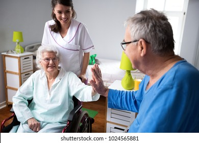 Give me five, see you later eldrly friend. Funny old people at nursing home