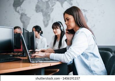 Give me your address please. Young people working in the call center. New deals is coming.