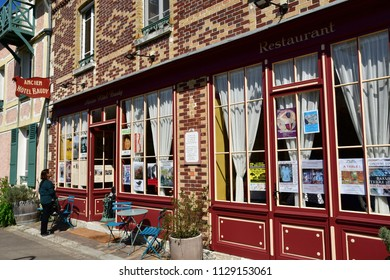 Giverny; France - april 17 2018 : the bar in which Claude Monet drank with his friends painters