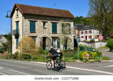 Giverny; France - april 17 2018 : the picturesque painters village in spring