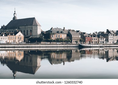 GIVET, FRANCE - May 26, 2018: A view on the french town Givet.
