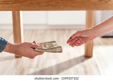 Giving a bribe under table