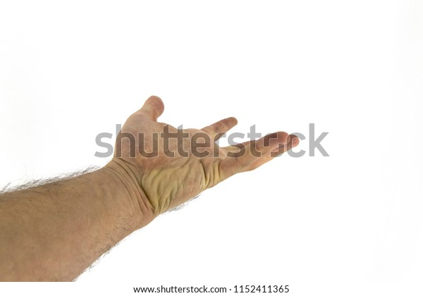 giving the hand offering something