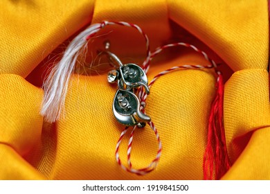 Giving out March trinkets or martisor is a romanian tradition celebrated on the 1st of March