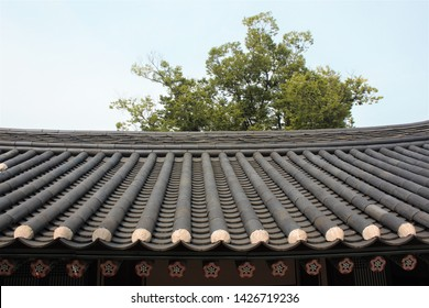 Giwa, Korean Traditional Roof Tile Used for Building a Hanok, a Korean-style House