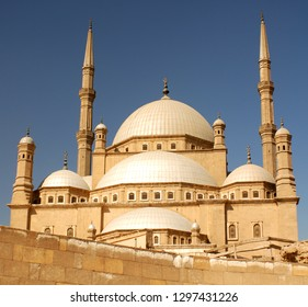 GIZA, EGYPT 11 15 09:Mosque of Muhammad Ali Pasha or Alabaster Mosque is a Ottoman mosque situated in the Saladin Citadel of Cairo in Egypt and commissioned by Muhammad Ali Pasha between 1830 and 1848