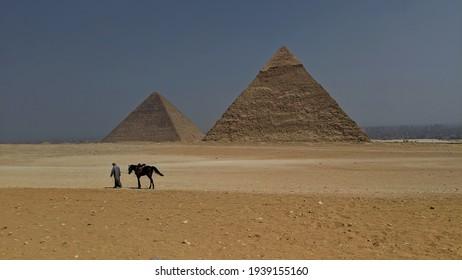 Giza pyramid complex in Greater Cairo, Egypt