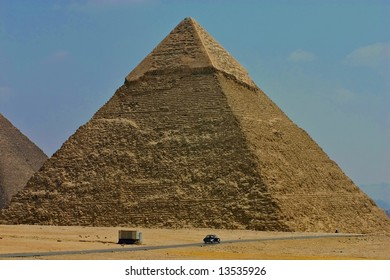 Giza pyramids at Cairo - Egypt