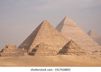 Giza Pyramids and Sphinx in Cairo Egypt ancient Egyptian civilization landmark