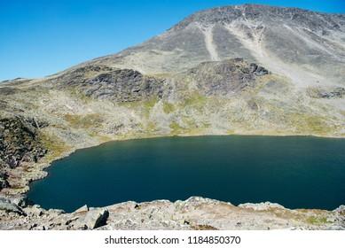 Gjende lake and Besseggen ridge, Jotunheimen National Park, Norway
