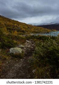 Gjende lake in Jotunheimen national park - Norway.