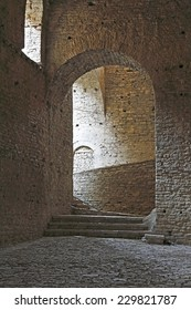 GJIROKASTER, ALBANIA - AUGUST 25: The catacombs in old fortress on August 25, 2012. Castle erected by Ali Pasha of Tepelena in the early 19th century. Gjirokaster is World Heritage Site by UNESCO