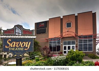Glace Bay, NS, Canada - August 2, 2018: The Savoy Theatre was established in 1927 and re-opened in 1976. It has held many events over the years