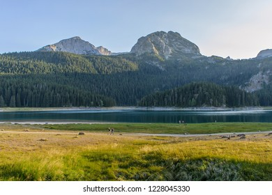 Glacial Black Lake. National Park Durmitor.