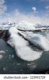 Glacial Ice Flow, Alaska