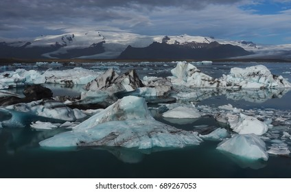 glacial lake or calving glaciers in Iceland