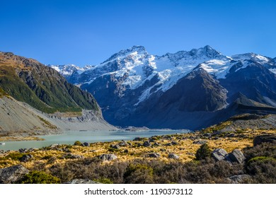 Glacial lake, Hooker Valley Track, Mount Cook, New Zealand