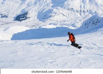 Glacial Mountain Snowboarding